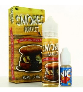 E liquide churros and vanilla ice cream 50ml smores addict