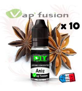 Lot de 10 Anis - arôme concentré - 10ml - Diy - Vapfusion