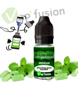 E liquide chewing-gum menthe 10ml Vapfusion