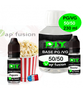 Pack base DIY facile e liquide Pop-Corn 230 ml Vap'fusion