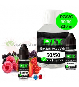 Pack base DIY facile e liquide Lucifer 230 ml Vap'fusion