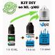 60ml Kit DIY, e liquide vapiz pack diy, arômes au choix