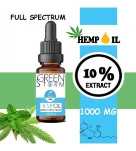 Huile de Chanvre BIO Broad Spectrum 10% 1000 mg 10 ml Hemp Oil saveur Menthe