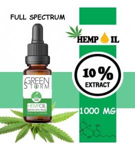 Huile de Chanvre BIO Broad Spectrum 10% 1000 mg 10 ml