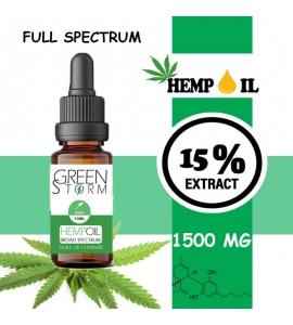 Huile de Chanvre BIO Broad Spectrum 15% 1500 mg 10 ml