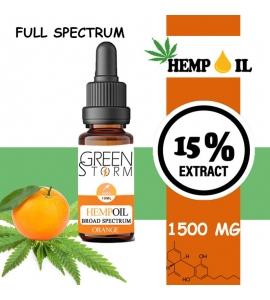 Huile de Chanvre BIO Broad Spectrum 10% 1000 mg 10 ml Hemp Oil saveur Orange