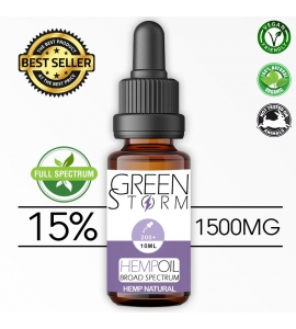 Huile de Chanvre BIO Broad Spectrum 15% 1500 mg 10 ml saveur Hemp Natural