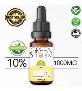 Huile de Chanvre BIO Broad Spectrum 10% 1000 mg 10 ml Hemp Oil saveur Vanille