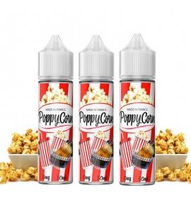 Pack 150 ml ( 3 x 50 ml ) e-liquide PoppyCorn - 50/50 PG/VG Vapfusion